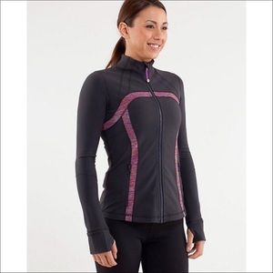 Lululemon Define Jacket Coal Heathered Lilac Pink